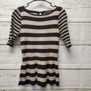 White House Black Market Shimmery Striped Sweater